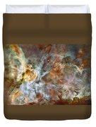 The Central Region Of The Carina Nebula Duvet Cover by Stocktrek Images