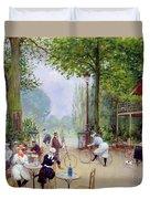 The Chalet Du Cycle In The Bois De Boulogne Duvet Cover
