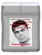 The Champ Muhammad Ali  Duvet Cover