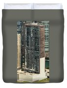 The Chandler Condominiums Building Chicago Aerial Duvet Cover
