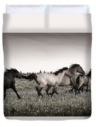 The Chase 1 Copper Duvet Cover by Roger Snyder
