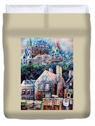 The Chateau Frontenac Duvet Cover