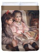 The Children Of Martial Caillebotte Duvet Cover by Pierre Auguste Renoir