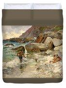 The Children Of The Sea - Capri Duvet Cover