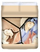 The Chinese Jesus Duvet Cover by Christine Till