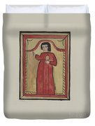 The Christ Child-retalba El Nino Perdido, (the Lost Child) A Retabla Duvet Cover