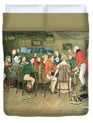 The Christmas Dinner At The Inn Duvet Cover