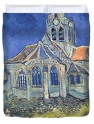 The Church At Auvers Sur Oise Duvet Cover by Vincent Van Gogh