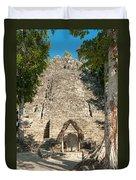 The Church At Grupo Coba At The Coba Ruins  Duvet Cover