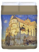 The Church At Moret Duvet Cover