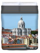 The Church Of Santa Engracia And Rooftops -- Lisbon Duvet Cover
