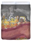 The City Of Nineveh With Stormfront Duvet Cover