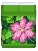 The Clematis Flower Duvet Cover