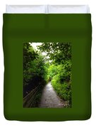 The Cliff Path At Lynton 4 Duvet Cover