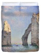 The Cliffs At Etretat Duvet Cover