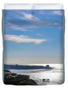 The Cliffs, Ocean And Sky At La Jolla, California Duvet Cover
