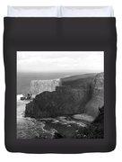 The Cliffs Of Mohar II - Ireland Duvet Cover by Mike McGlothlen