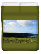 The Cliff's Of Moher In Ireland With Beautiful Skies Duvet Cover