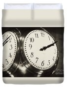 The Clock At Grand Central Duvet Cover