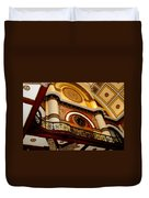 The Clock In The Union Station Nashville Duvet Cover