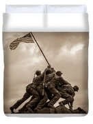 The Clouds Over Iwo Jima Duvet Cover