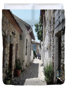 The Cobbled Back Streets Surrounding Old Marmaris Duvet Cover