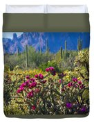 The Colorful Desert  Duvet Cover