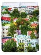 The Colors Of Reykjavik Duvet Cover