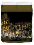 The Colosseum In Rome At Night Duvet Cover