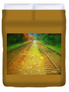 The Colour Along The Tracks Duvet Cover