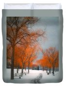 The Colours Of Winter Duvet Cover
