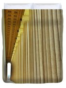 The Columns At The Parthenon In Nashville Tennessee Duvet Cover