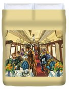 The Comfort Of The Pullman Coach Of A Victorian Passenger Train Duvet Cover
