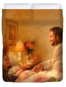 The Comforter Duvet Cover by Greg Olsen