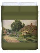 The Coming Of The Haycart  Duvet Cover