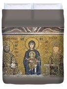 The Comnenus Mosaics In Hagia Sophia Duvet Cover