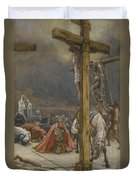 The Confession Of Saint Longinus Duvet Cover by Tissot