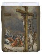 The Confession Of Saint Longinus Duvet Cover by Tissot