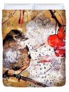 The Content Sparrow Duvet Cover