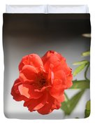 The Coral Rose Duvet Cover
