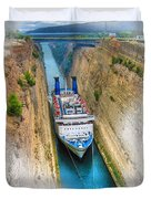 The Corinth Canal  Duvet Cover