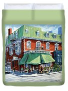 The Corner Market Duvet Cover
