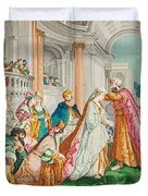 The Coronation Of Esther Duvet Cover