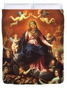 The Coronation Of The Virgin 1626 Duvet Cover