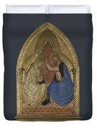 The Coronation Of The Virgin Duvet Cover