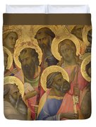 The Coronation Of The Virgin Duvet Cover by Lorenzo Monaco