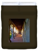 The Corridor By The Serra Chapel San Juan Capistrano Mission California Duvet Cover