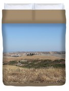 The Country In The Tuscany Region Duvet Cover