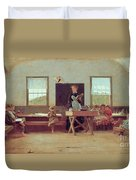 The Country School Duvet Cover by Winslow Homer