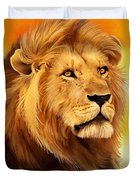 The Courageous Cecil - African Lion Duvet Cover
